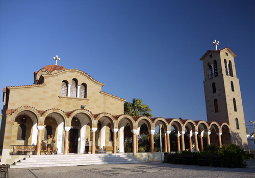 Photograph faliraki church rhodes by forrestal pl